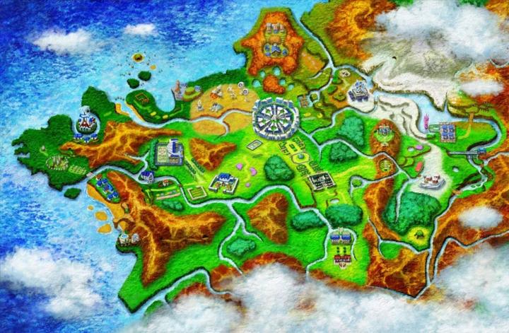 Mapa Región Kalos