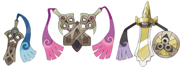 Honedge, Doublade y Aegislash