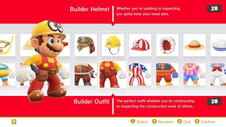 Super Mario Odyssey Vestuarios